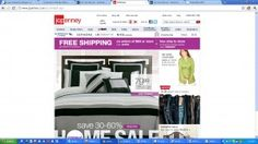 jcpenney great #ecommerce website sample Website Sample, Online Sales, Ecommerce, E Commerce