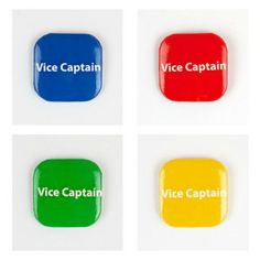 32mm Square Button Badge - Vice Captain – London Emblem School Badges, Button Badge, Buttons, Instagram Posts, Boy London, House, Products, Badge, Home