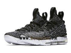 1ae59ab7af550 Nike LeBron 15 XV Chaussures Officiel Nike Prix Homme Noir Blanc 897648-002
