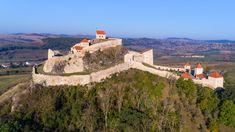 Rupea Citadel castle in Transylvania, Romania Attraction, Medieval Fortress, Destinations, Europe, Future Travel, Culture, Aerial View, Architecture, Monument Valley