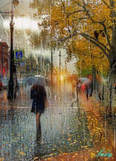 Google+ Walking In The Rain, Singing In The Rain, Rain Gif, Smell Of Rain, I Love Rain, Rain Days, Autumn Rain, Under The Rain, Gifs