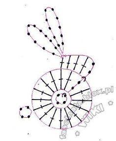 Crochet bunny chart pattern
