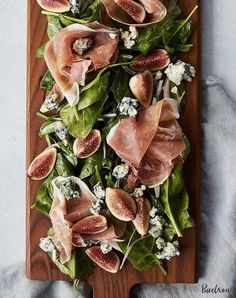 Nadire Atas on Unique and Delicious Salads 13 No-Cook Thanksgiving Appetizers That'll Keep Guests Happy Until Dinner: Prosciutto & Fig Salad Board Easy Thanksgiving Recipes, Thanksgiving Appetizers, Appetizers For Party, Thanksgiving Feast, Cold Appetizers, Dinner Party Desserts, Thanksgiving Prayer, Dinner Party Menu, Hosting Thanksgiving