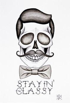 Mustache Skull