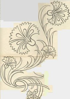 ideas design art nouveau tattoos for 2019 Embroidery Designs, Beaded Embroidery, Embroidery Stitches, Hand Embroidery, Painting Patterns, Fabric Painting, Art Nouveau Tattoo, Tile Art, Machine Quilting