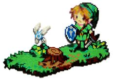 Link + Navi hama perler beads by Aenea-Jones on deviantart