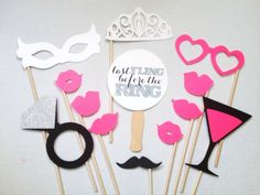 12Piece Bachelorette Party Set  Last Fling Before by CleverMarten, $20.00  @Erin Ocheltree photo booth?!