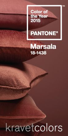 Marsala: Pantone Color of the Year 2015
