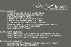 Corner Vampire Diaries Drinking Game … participate if you dare