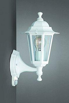 Weiße Außenlampe mit Bewegungsmelder von Philips/Massive Sensorleuchte Außenleuchte Wandlampe
