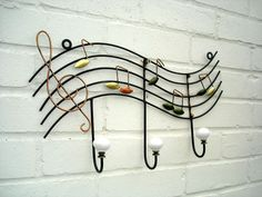 Music Notes -Coat Hooks...very cool....