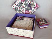 Conjunto de trio de caixas em mdf forradas com tecido 100% algodão, para presentear e organizar. pode ir com toalha para lavabocom aplique do mesmo tecido da caixa.