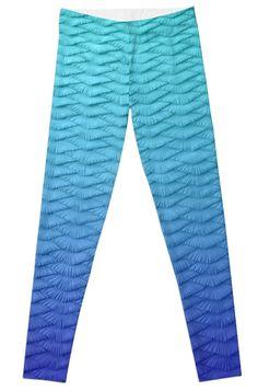 0e8441d3c7370f Gradient Leggings Blue Legging Blue Leggings, Printed Leggings, Mini  Skirts, Pajama Pants,