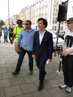Benedict Cumberbatch leaves filming set of Sherlock Holmes to meet some of our @TeenageCancer patients from @uclh :)