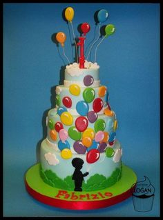 Cake with balloons