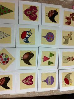Free motion christmas cards workshop