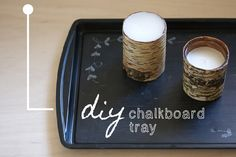 39 DIY Christmas Gifts You'd Actually Want To Receive Lots of unique DIY gift ideas, many of which can be made using pre-loved materials. For instance, this base tray can be purchased at a thrift store. Diy Holiday Gifts, Christmas Crafts, Christmas Ideas, Holiday Ideas, Craft Gifts, Diy Gifts, Starbucks, Diy Mothers Day Gifts, Diy Chalkboard