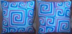 pillow Chrochet, Pillows, Projects, Cushion, Crochet Hooks, Log Projects, Ganchillo, Crocheting, Crochet