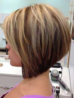 8.Short Haircut with Highlights