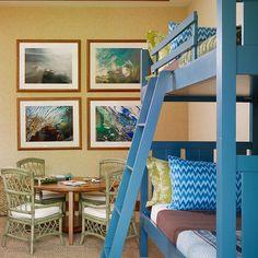 blue bunks. Paint with chalk paint provence