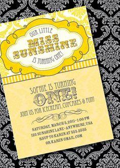 """Little Miss Sunshine"" birthday party"