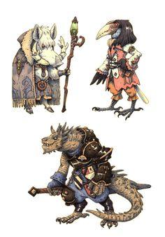 Jrpg characters 4 by eoghankerrigan character design in 2019 Character Design Cartoon, Fantasy Character Design, Character Design Inspiration, Character Concept, Character Art, Concept Art, Dnd Characters, Fantasy Characters, Dungeons And Dragons