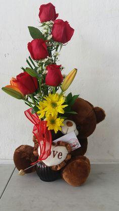 Valentine Flower Arrangements, Creative Flower Arrangements, Spring Flower Arrangements, Floral Arrangements, Valentines Day Baskets, Valentine Gifts, Silk Flowers, Spring Flowers, Valentine's Day Gift Baskets