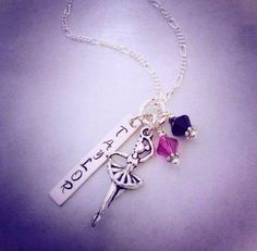 Sporty Dancer Personalized Hand Stamped Name Necklace on Etsy, $22.00