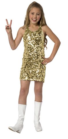 Disco costume for girl : Vegaoo Kids Costumes