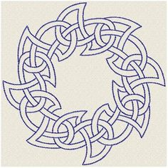 Design for embroidery machine. All formats. Hand Embroidery Patterns, Floral Embroidery, Machine Embroidery, Embroidery Designs, Celtic Border, Celtic Circle, Celtic Knots, Celtic Symbols, Celtic Shamrock