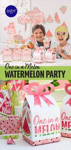 Watermelon Party Decorations, Watermelon Birthday Parties, Watermelon Decor, 1st Birthday Party For Girls, Sweet Watermelon, Girls Party Decorations, Fruit Party, Spa Birthday, 11th Birthday