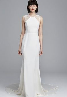 The new Nouvelle Amsale collection has arrived! Take a look at what the latest Nouvelle Amsale bridal collection has in store for newly engaged brides. Spring 2017 Wedding Dresses, Designer Wedding Dresses, Bridal Dresses, Bridesmaid Dresses, Sleek Wedding Dress, Crepe Wedding Dress, Wedding Gowns, Wedding Suite, Ivory Wedding