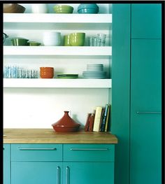 thinking about a teal kitchen, do I dare?