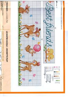 Baby Cross Stitch Patterns, Cross Stitch Baby, Cross Stitch Charts, Cross Stitch Embroidery, Baby Towel, Filet Crochet, Le Point, Deer, Bullet Journal