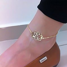 Hey, I found this really awesome Etsy listing at https://www.etsy.com/listing/129083531/monogram-anklet-personalized-monogram