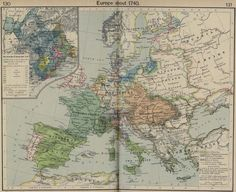 Europe about 1740 - 2015 Maps & Atlas