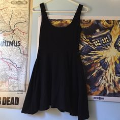 Sparkle and Fade Black Mini Dress Simple and chic skater dress. Has some deodorant marks on the armpit but will wash out. Sparkle & Fade Dresses Mini