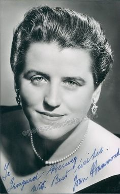 Australian soprano (1912-1996), signed photo, shown as herself. Size is 3.25 x 5.5 inches, inscribed.
