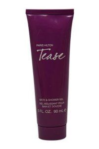Paris Hilton Tease Bath and Shower Gel for Women, 3 Ounce by Paris Hilton. $3.16. Paris Hilton tease was launched by the design house of Paris Hilton. 3 ounce bath and shower gel. It is recommended for normal skin. Paris Hilton tease by Paris Hilton for women - 3 ounce bath and shower gel. It is recommended for normal skin.. Save 79%!