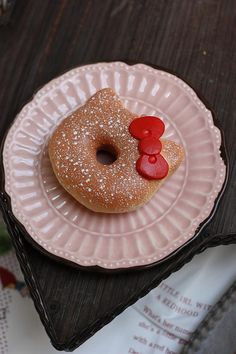 Hello Kitty Donut...They should have made Liz a donut sundea like this for her BIRTHDAY!!