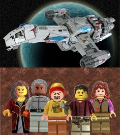 "From the article: ""Firefly is the latest iconic geek franchise to get the Lego treatment on Lego's Cuusoo crowdsourcing site, thanks to builder tbone_tbl. T-Bone's proposed Firefly set includes a model of the Serenity, plus minifig designs for Captain Mal and the crew. The playset could use a little more Browncoat support to make it in front of Lego's jury: it currently stands at 8,500 of the required 10,000 votes to be considered for conversion into an official set."""
