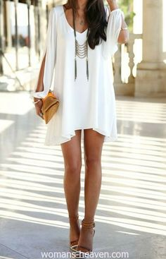 dress, dress image, fashion, image, moda, photo, picture, white dress, style http://www.womans-heaven.com/white-dress-image-51/