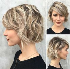 Ash Blonde Bob + Blonde Balayage Highlights