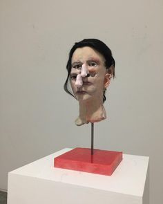 Struck, one of the many heads that will be on view booth at Frieze ny next week David Altmejd, Next Week, Instagram, Art, Craft Art, Kunst