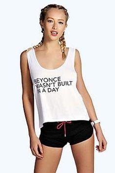 Aimee Wasn't Built Slogan Sports Vest