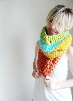 Colorful Neckwarmer Wool by Stylishknitting on Etsy, $59.00