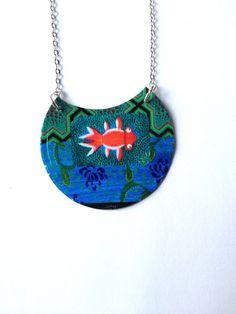Collier en métal recyclé motif japonais : Collier par miss-castafiore