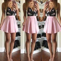 Vestidos 2016 New Women Summer Dress Casual Cute Chiffon Party Dresses O-neck Sleeveless Pink Dress Bodycon A-line Mini Dress Sexy Party Dress, Sexy Dresses, Dress Up, Bodycon Dress, Party Dresses, Vans Era, Pink Chiffon Dress, Strapless Dress, Pink Dress
