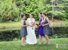 Bridesmaid dresses, infinity wrap dress purple and gray Etsy Shop: The Radical Thread Co