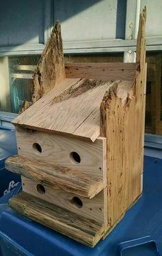 Oak birdhouse